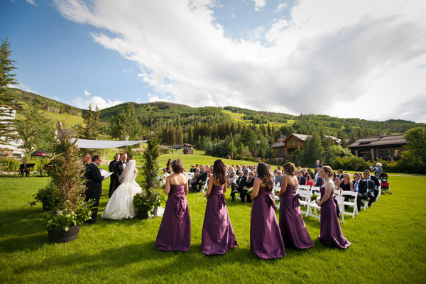 Liz And Wades Vail Wedding At The Larkspur Lawn Four Seasons